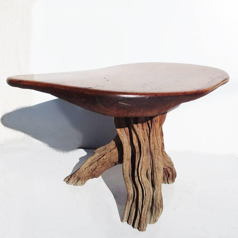 Free Form Burled Wood Side Table For Sale At 1stdibs