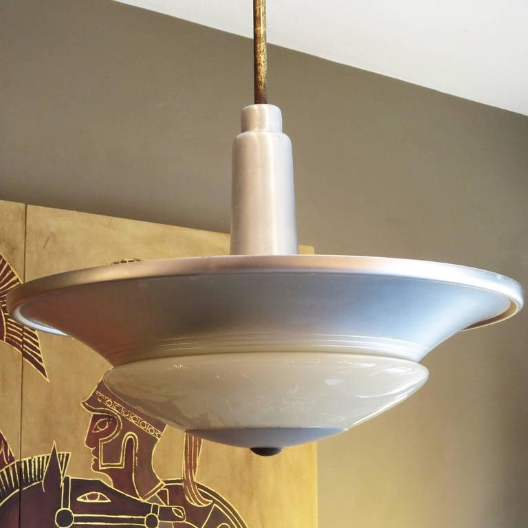 Art Deco Flying Saucer Hanging Lamps At 1stdibs
