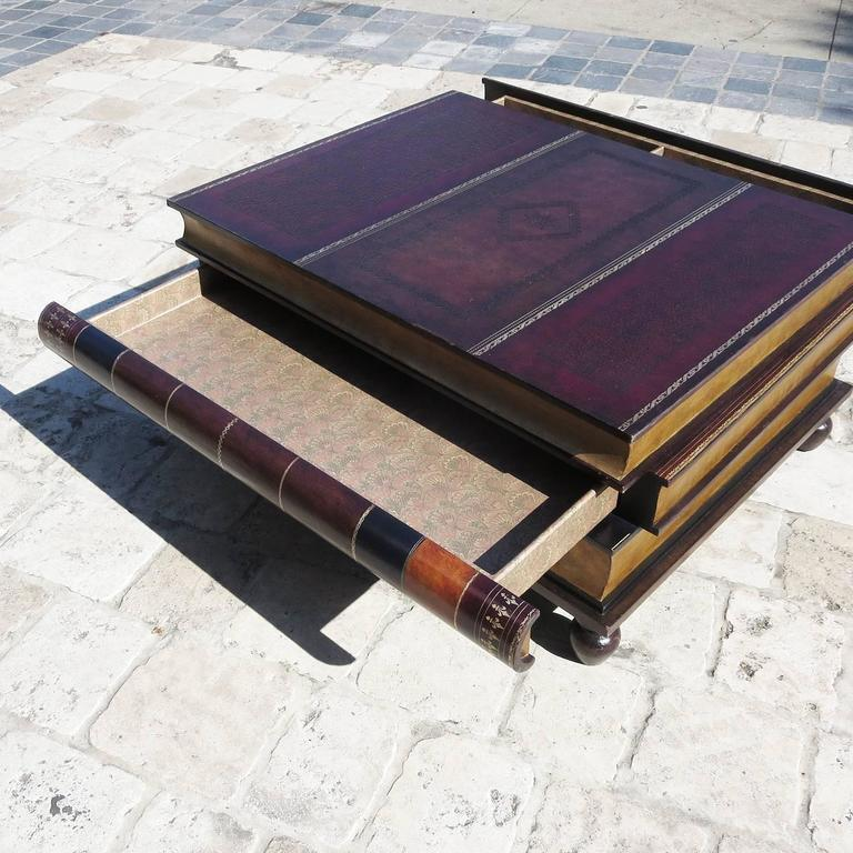 Old Coffee Table Books: Leather Stacked Books Coffee Table By Maitland-Smith At