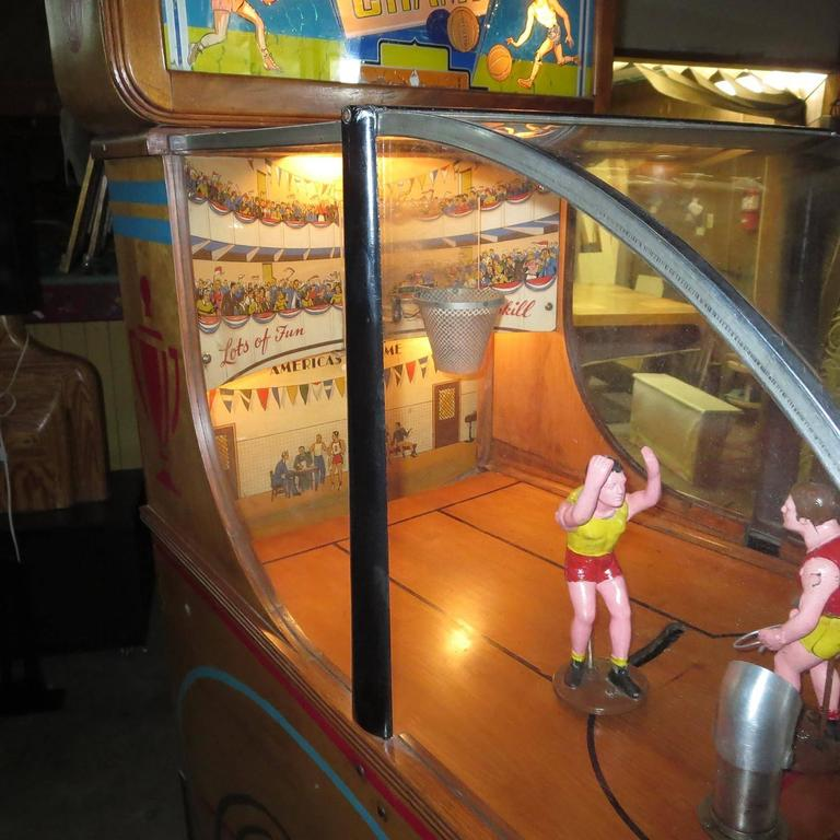 1947 Chicago Coins Basketball Champ Arcade Game At 1stdibs