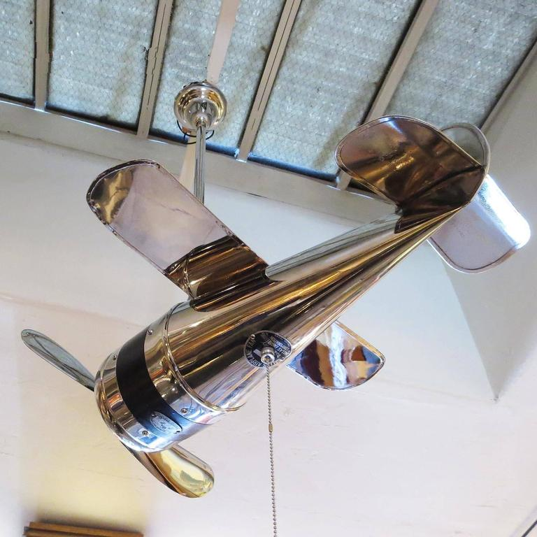 Airplane Style Ceiling Fans : Art deco airplane ceiling fan at stdibs