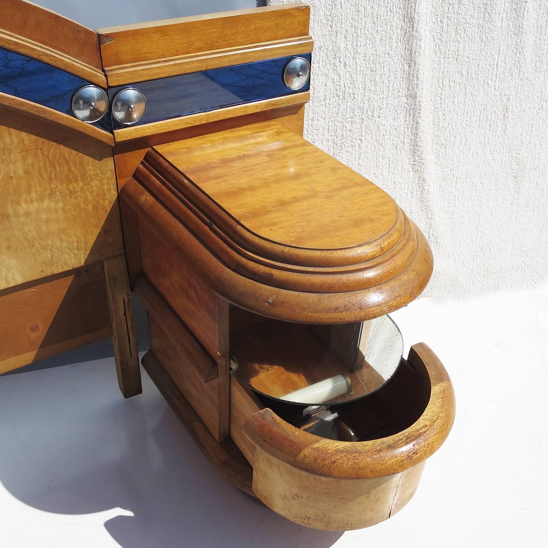 art deco ocean liner bedroom set for sale at 1stdibs. Black Bedroom Furniture Sets. Home Design Ideas