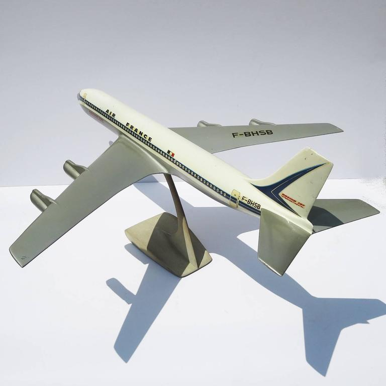 Air France Painted Metal Boeing 707 Desk Model 4