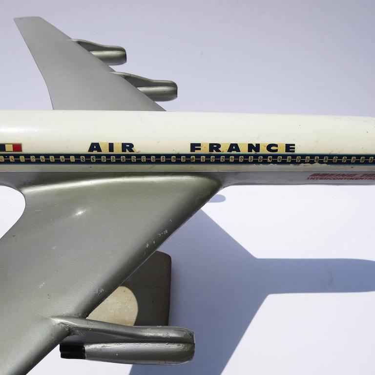 Air France Painted Metal Boeing 707 Desk Model 6