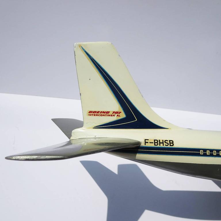 Air France Painted Metal Boeing 707 Desk Model 7