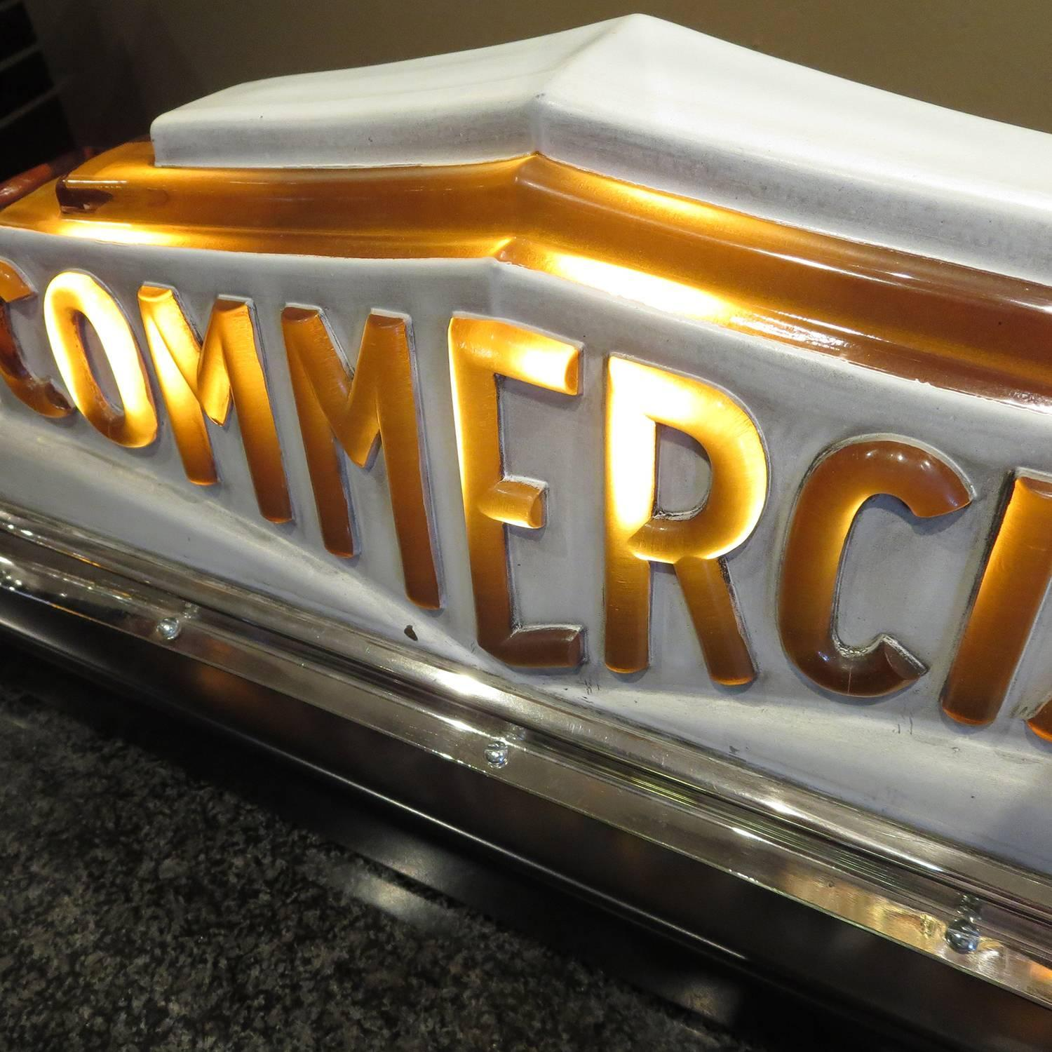 art deco taxi cab lighted sign in molded glass for sale at. Black Bedroom Furniture Sets. Home Design Ideas
