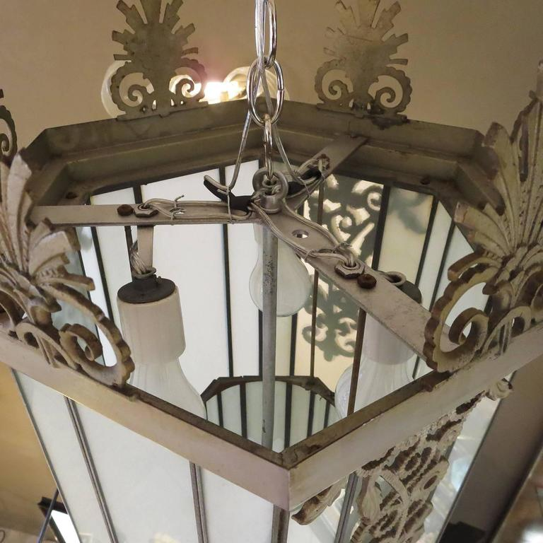 Art Deco Stepped Theater Chandelier For Sale 1