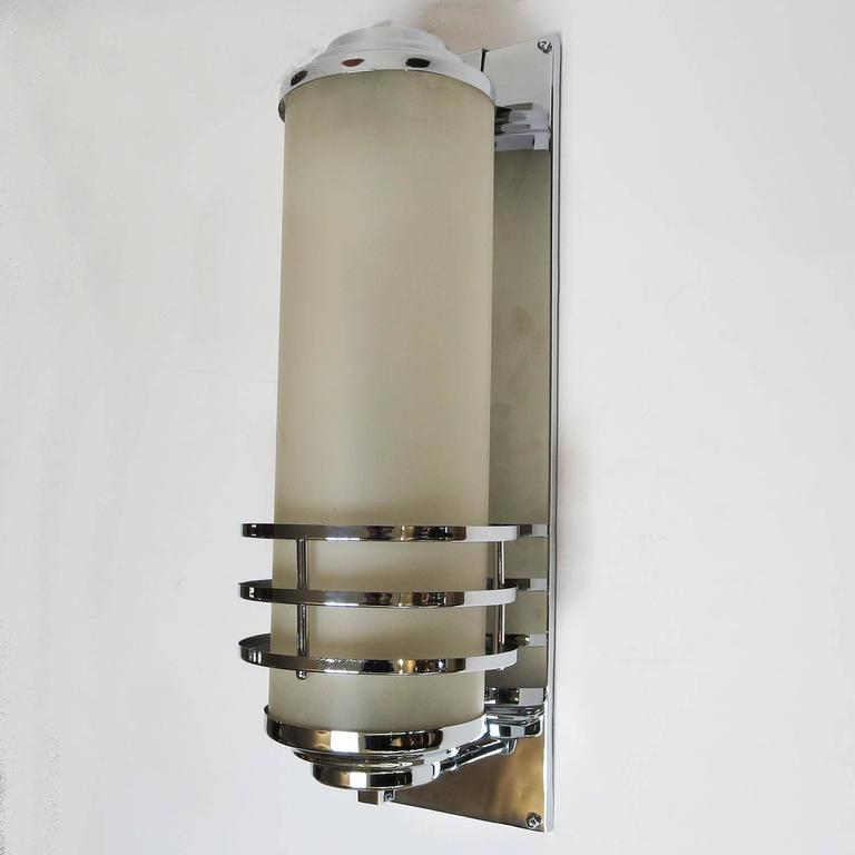 RKO Pictures Large Art Deco Wall Sconce 3