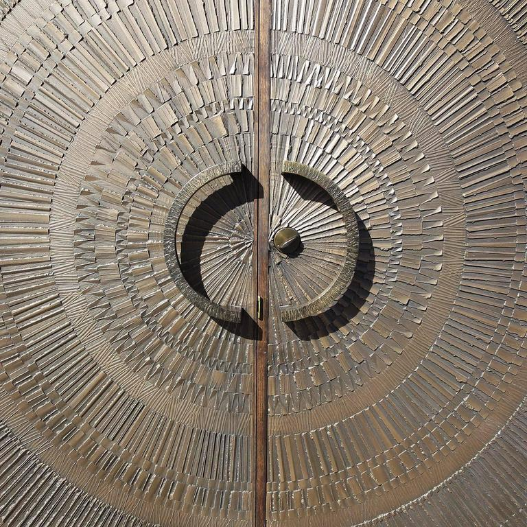"Massive ""Heroic Sunburst"" Double Sided Bronze Doors by Forms + Surfaces 3"