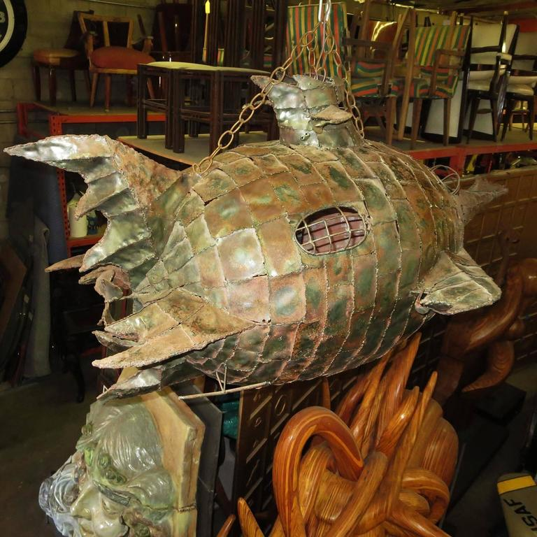 American Jules Verne's Nautilus Ship Hanging Sculpture For Sale
