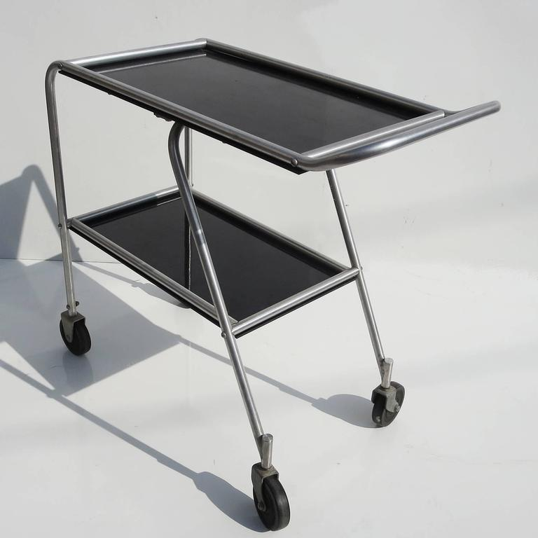 American Art Deco 1930s Aero Art Cocktail Trolley Cart from DC3 Airplane For Sale
