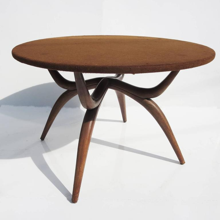Stylized Mid-Century Game Table with Vitrolite Glass and Felt Playing Top 5