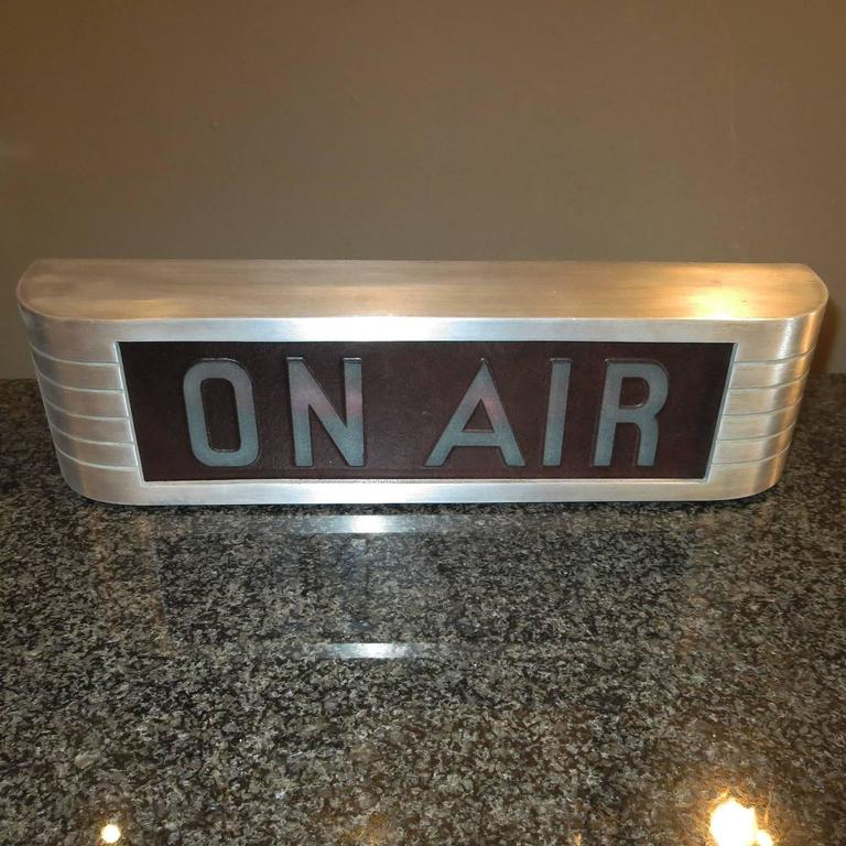 """American RCA Victor """"On Air"""" Lighted Recording Sign For Sale"""