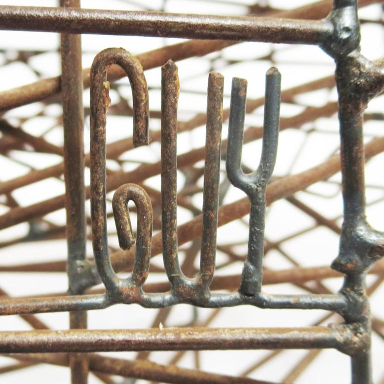 "Pair of 1960s Welded Wire ""Maze"" Sculptures by Guy Pullen 4"