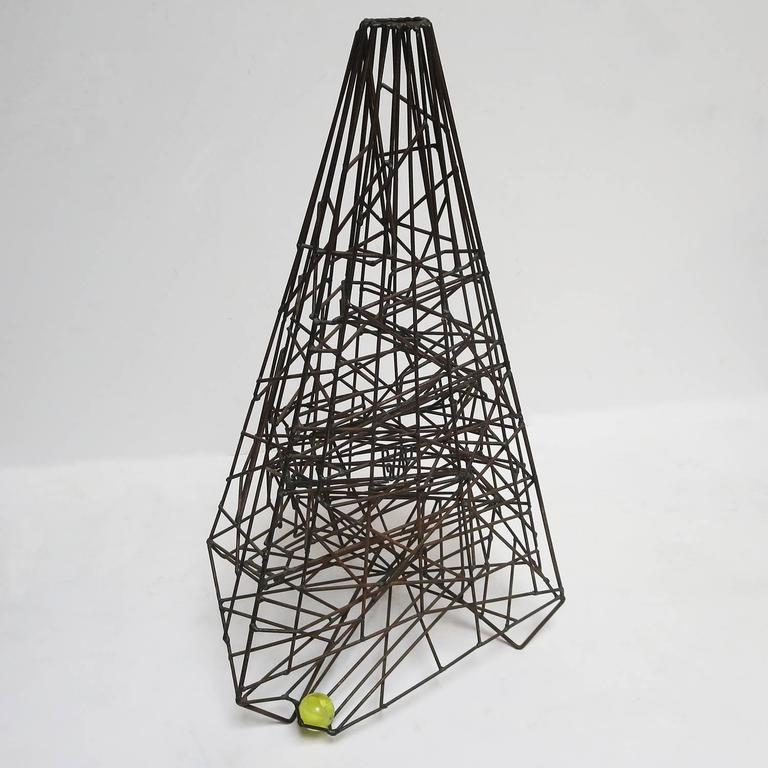 "Pair of 1960s Welded Wire ""Maze"" Sculptures by Guy Pullen 5"