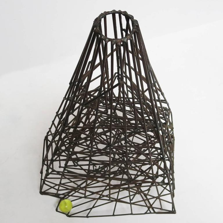 """Mid-20th Century Pair of 1960s Welded Wire """"Maze"""" Sculptures by Guy Pullen For Sale"""