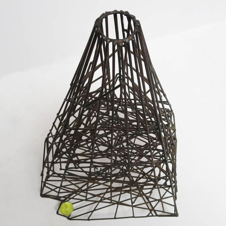 "Pair of 1960s Welded Wire ""Maze"" Sculptures by Guy Pullen 6"
