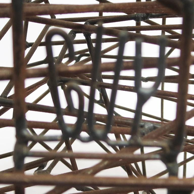 """Pair of 1960s Welded Wire """"Maze"""" Sculptures by Guy Pullen For Sale 1"""
