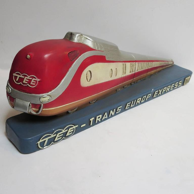 Trans Europ Express Rare Streamlined Plaster Train Display 2