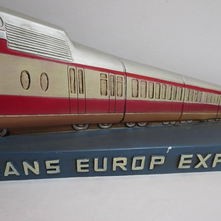 Trans Europ Express Rare Streamlined Plaster Train Display 4