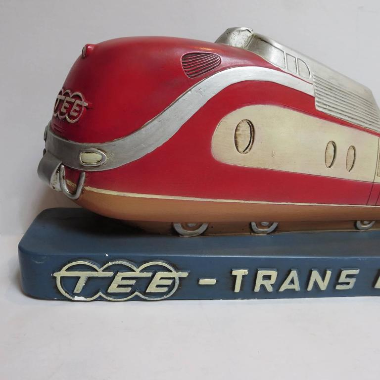 Trans Europ Express Rare Streamlined Plaster Train Display 3