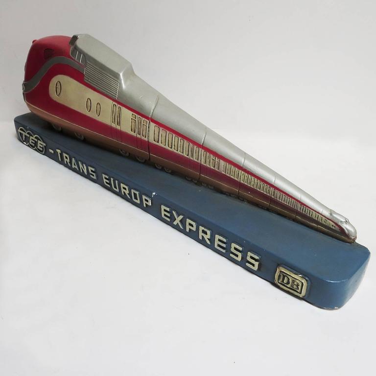 Trans Europ Express Rare Streamlined Plaster Train Display 6