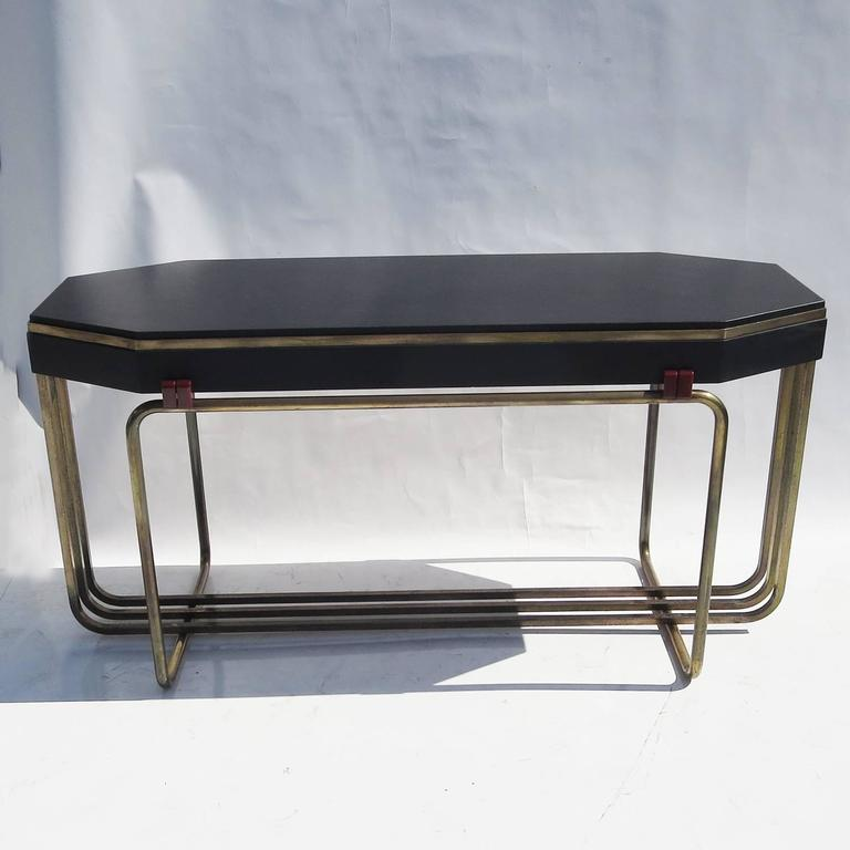 Art Deco Console Table in Bronze and Granite 3
