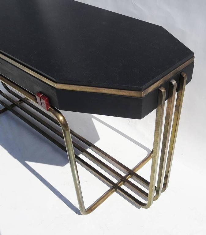 Art Deco Console Table in Bronze and Granite 5