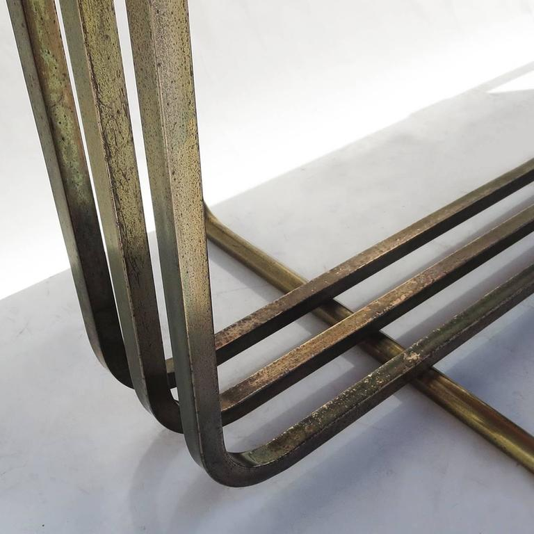 Art Deco Console Table in Bronze and Granite 7