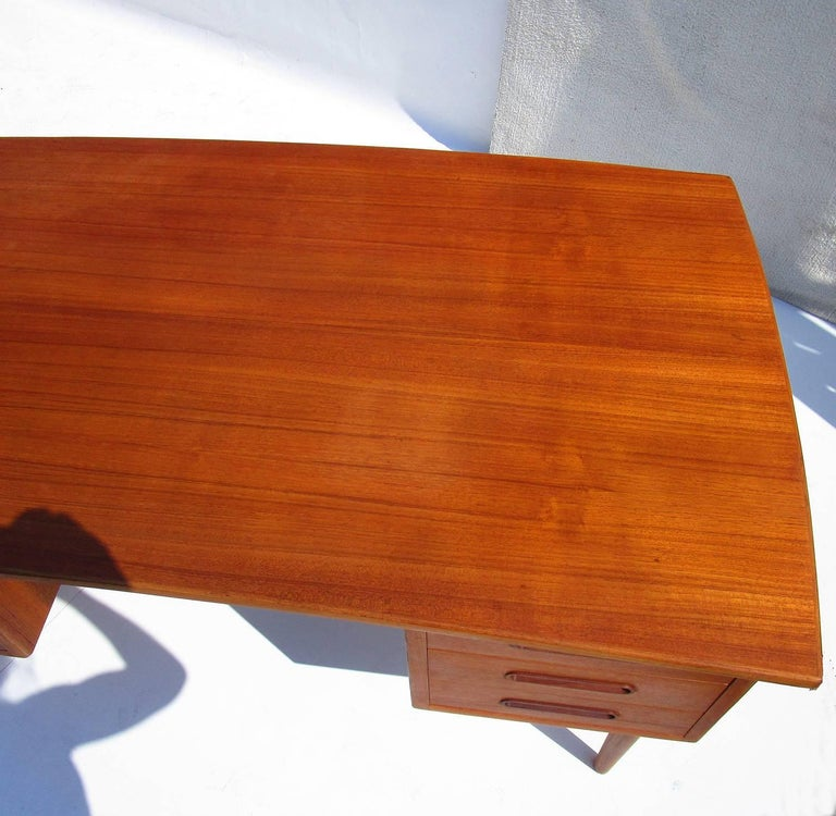 Lacquered Danish Mid-Century Modern Teak Desk For Sale