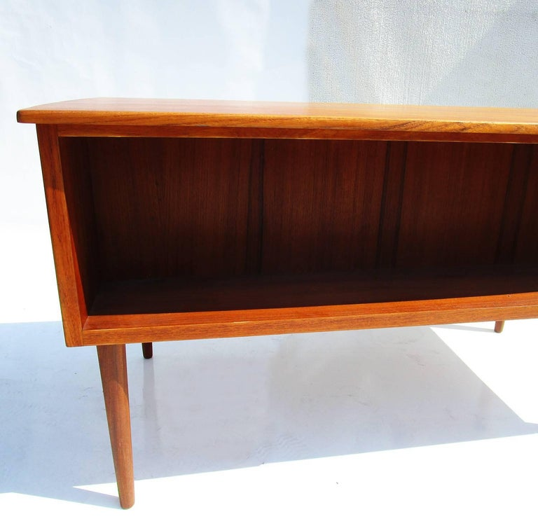 Mid-20th Century Danish Mid-Century Modern Teak Desk For Sale