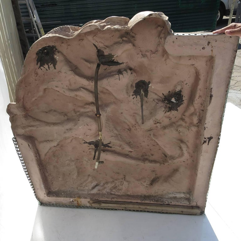 Art Deco Style Large-Scale Wall Fountain Signed Genie Riley For Sale 1