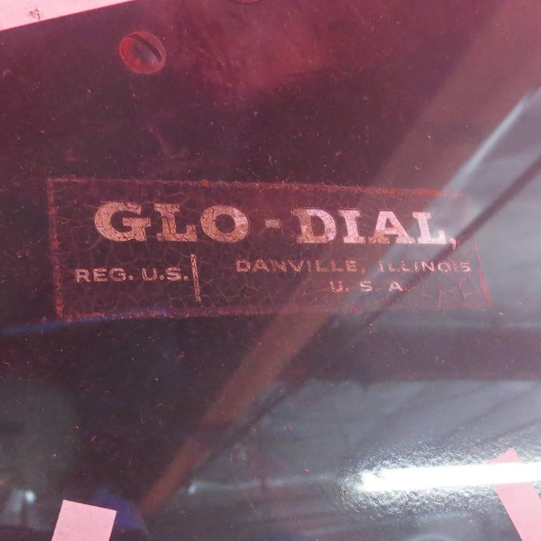 Rare Double Sided Hanging Neon Clock and Thermometer by Glo-Dial 4