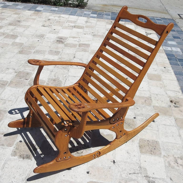"Hand Sculpted Rocking Chair by Robert ""Jocko"" Johnson, 1998 2"