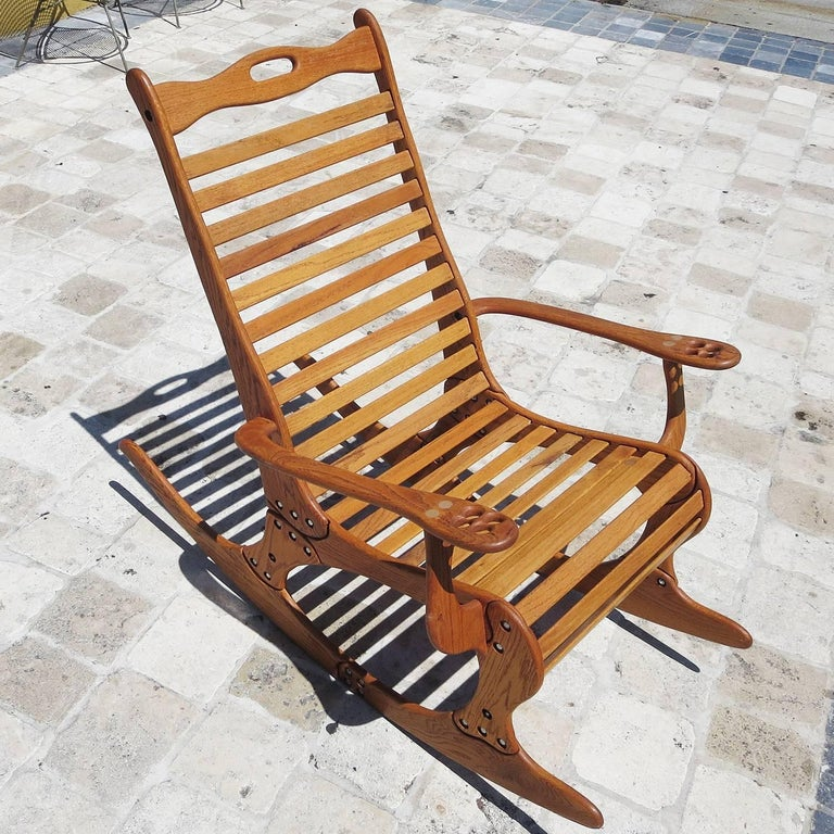 "Hand Sculpted Rocking Chair by Robert ""Jocko"" Johnson, 1998 3"