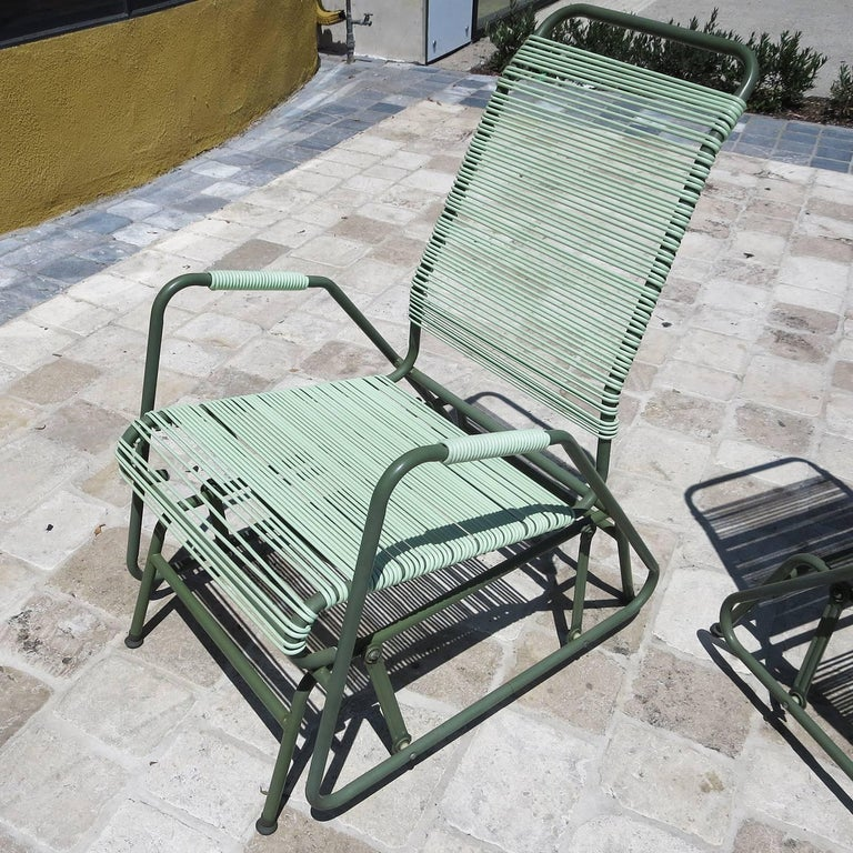Mid-Century Modern Mid-Century Patio Glider Chairs by Mallin Co. of California For Sale