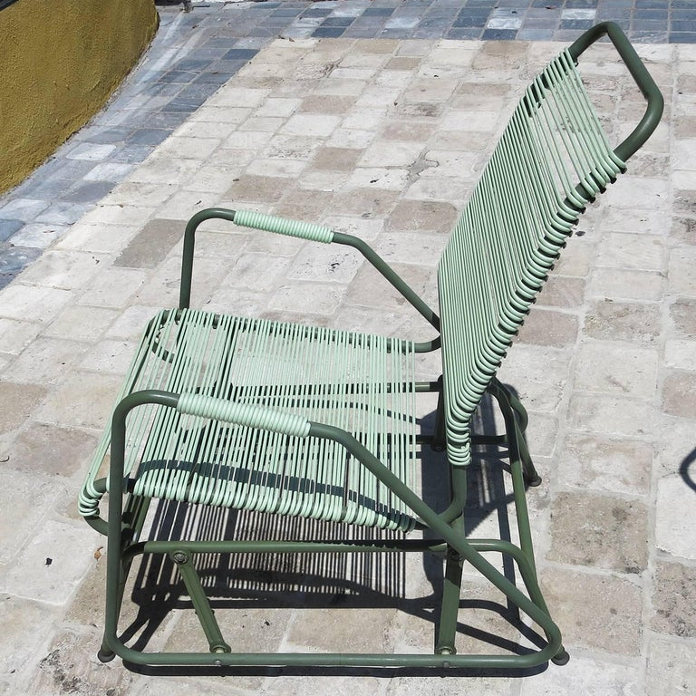 American Mid-Century Patio Glider Chairs by Mallin Co. of California For Sale