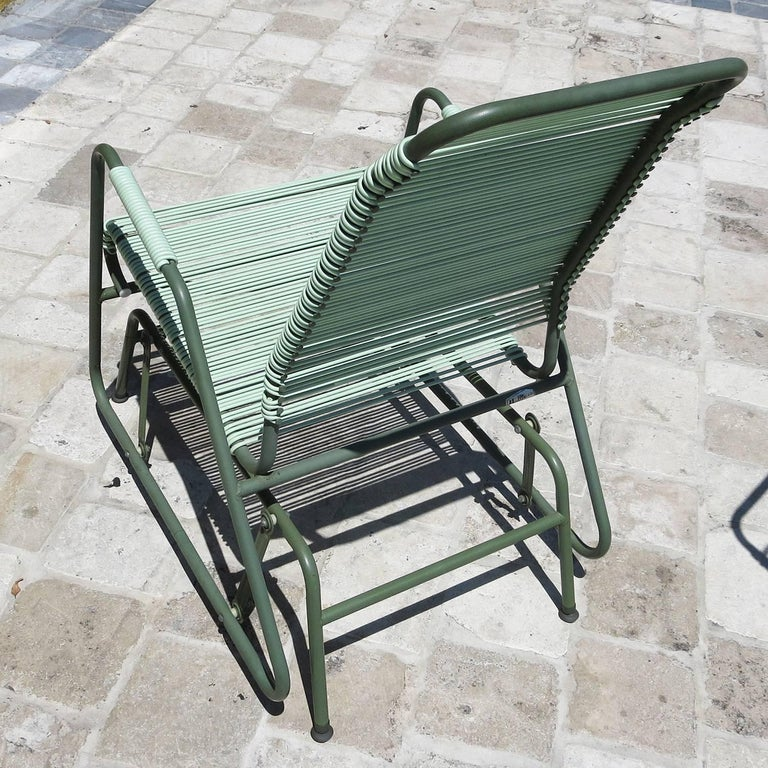 Painted Mid-Century Patio Glider Chairs by Mallin Co. of California For Sale
