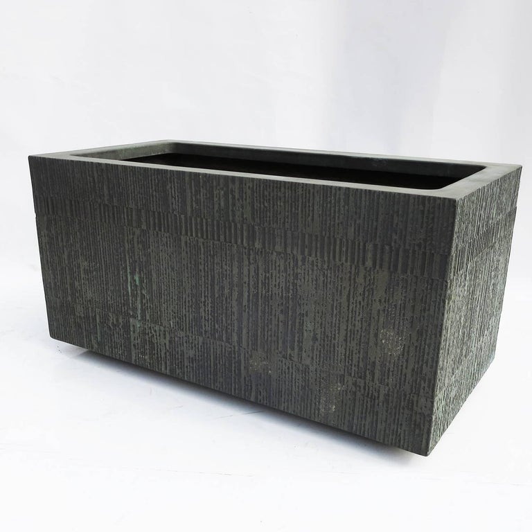 Forms and Surfaces Bronzed Fiberglass Planter with Optional Pedestal Legs 2