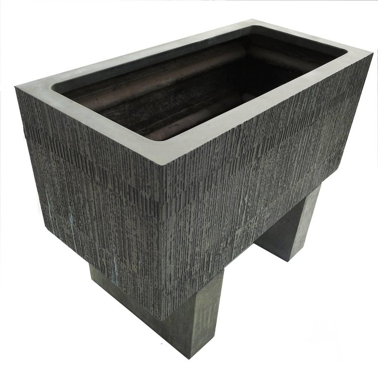 Forms and Surfaces Bronzed Fiberglass Planter with Optional Pedestal Legs 5