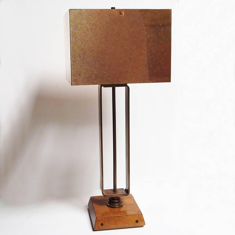 Art Deco Machine Age Copper Table Lamps 2