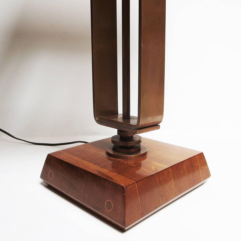 Art Deco Machine Age Copper Table Lamps 3