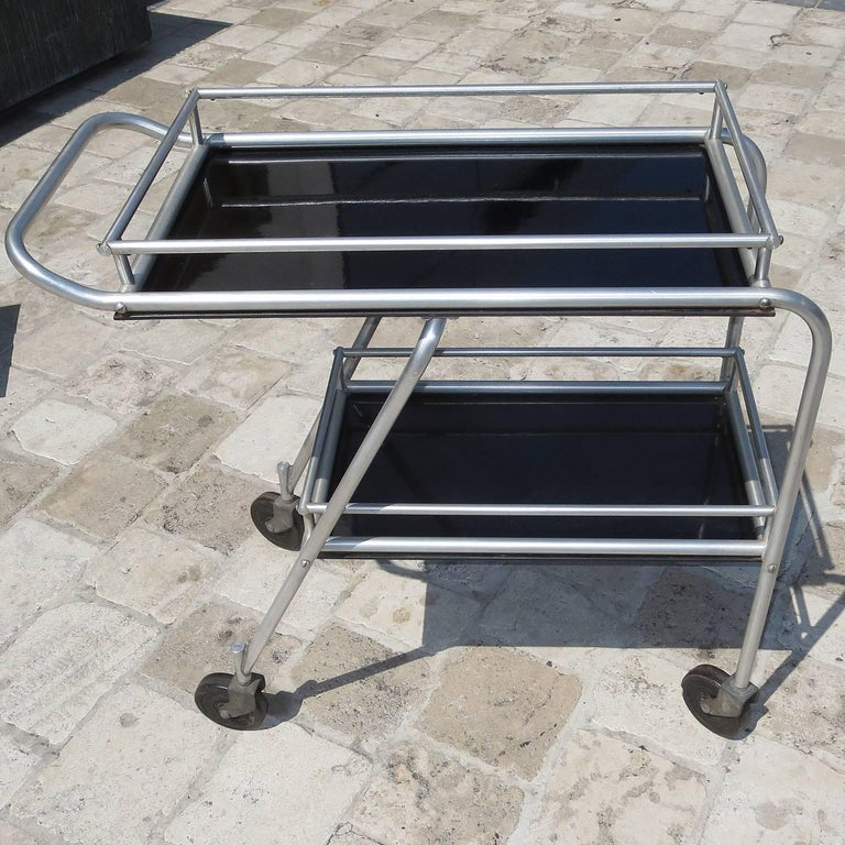Deco DC3 Aero Art Cocktail Trolley Cart with Rare Serving Tray 2