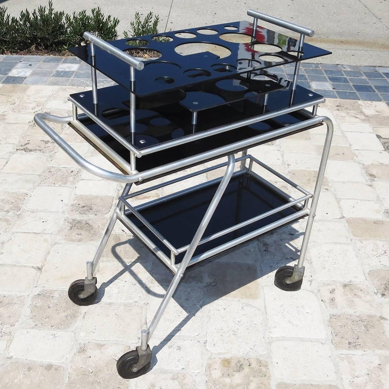 Deco DC3 Aero Art Cocktail Trolley Cart with Rare Serving Tray 4