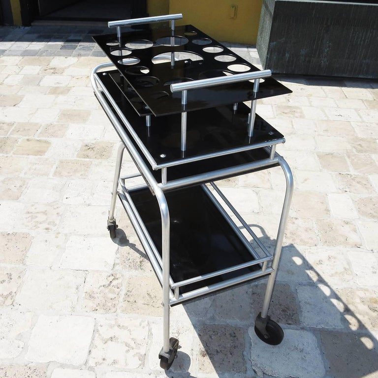 Deco DC3 Aero Art Cocktail Trolley Cart with Rare Serving Tray 5