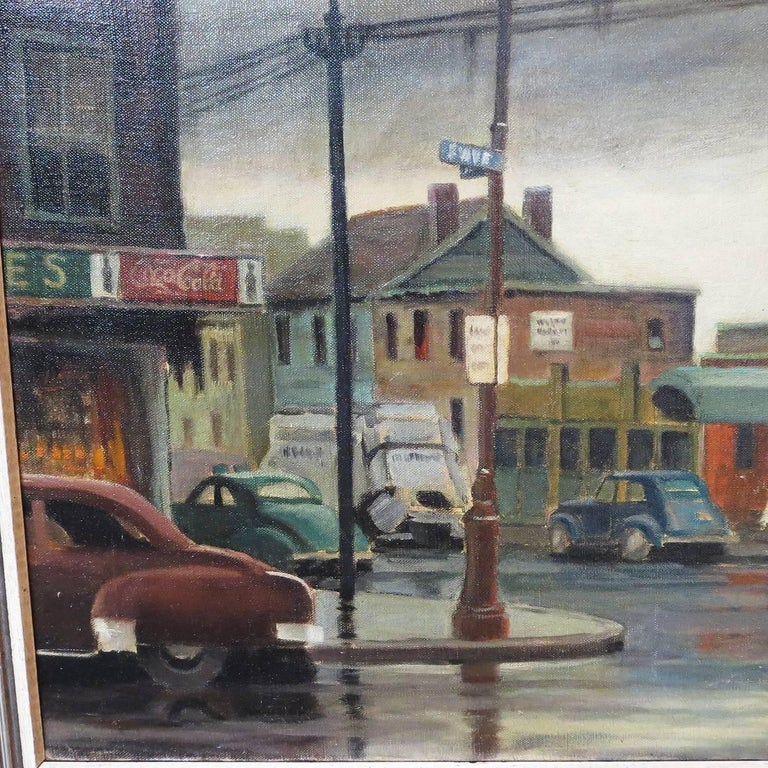 American artist Elmer Schwab was a member of New Yorks' Salmagundi Club, founded in 1871. The club sponsored artists, held classes, exhibitions, and auctions, and is the oldest art organization in the United States. This lovely oil painting was sold