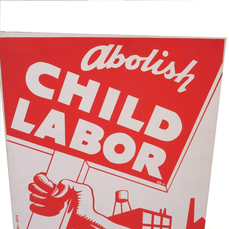 1939 Socialist Child Labor Poster by Rebel Arts Group, New York 2