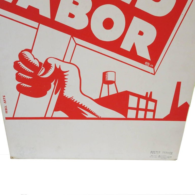 1939 Socialist Child Labor Poster by Rebel Arts Group, New York 3