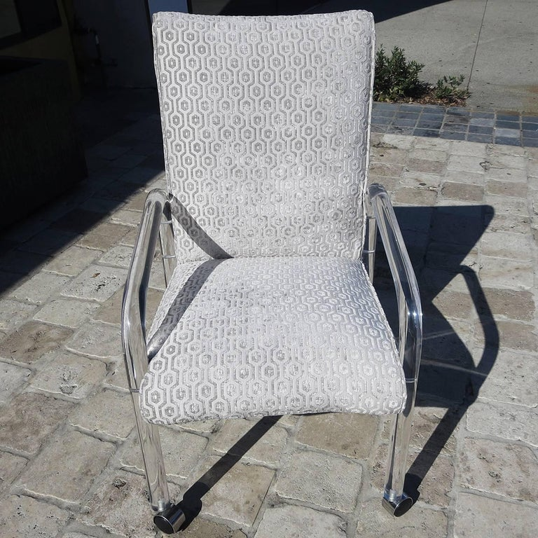 Leon Rosen Lucite Armchairs for Pace, 1970s In Excellent Condition For Sale In Los Angeles, CA