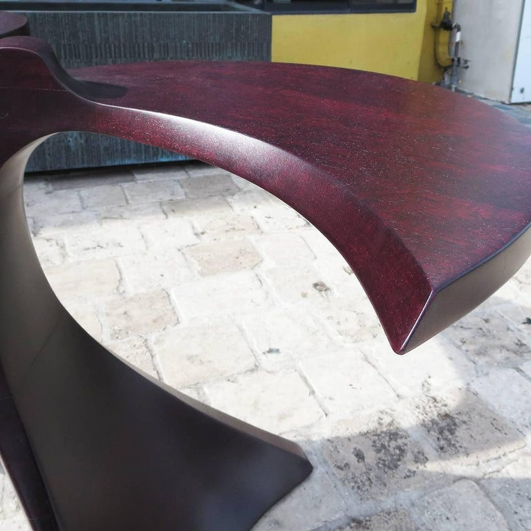 Mid-20th Century 1960s Free-Form Purpleheart End Tables For Sale